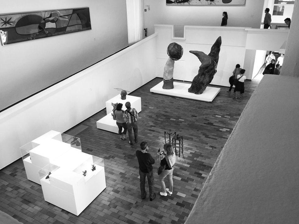 Inside museum Bnw_friday_eyeemchallenge Museum Time Indoors  Musée Miro Barcelona
