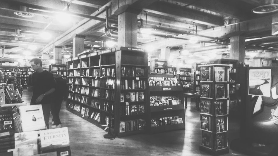 I love the smell of books in the morning Indoors  People Adults Only Bookstore Books Bookshelf Book Store Book Collections Vintage Style Monochromatic Tatteredpages Colorado I Love The Smell Of Books EyeEmNewHere