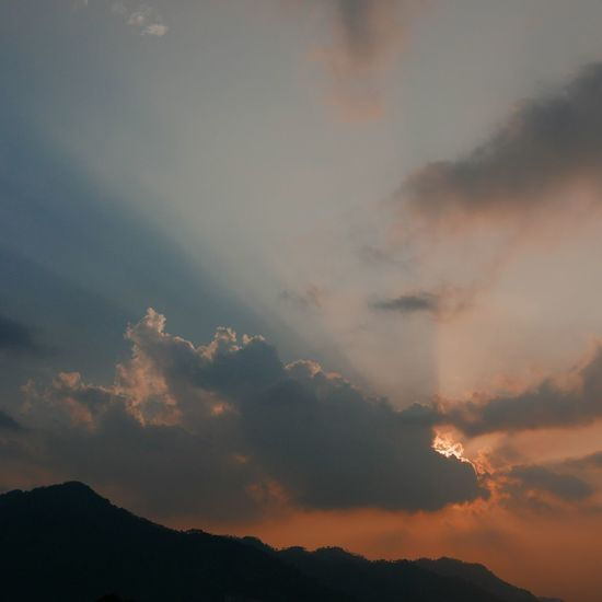 the last light Sky Mountains Sunset Clouds Evening EyeEm EyeEm Nature Lover Open Edit Leica D-lux Typ109 Nature On Your Doorstep view from my home in Himachal, India