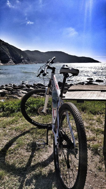 Bom dia 😊 Bicycle No People Beach Tranquility Taking Photos Photo Of The Day Strava Stravaphoto Road Bike Relaxing View Beach Day EyeEm Best Shots Eye4photography  EyeEm Nature Lover Sunlight Brasil LGG4📲 Tadaa Community Snapseed