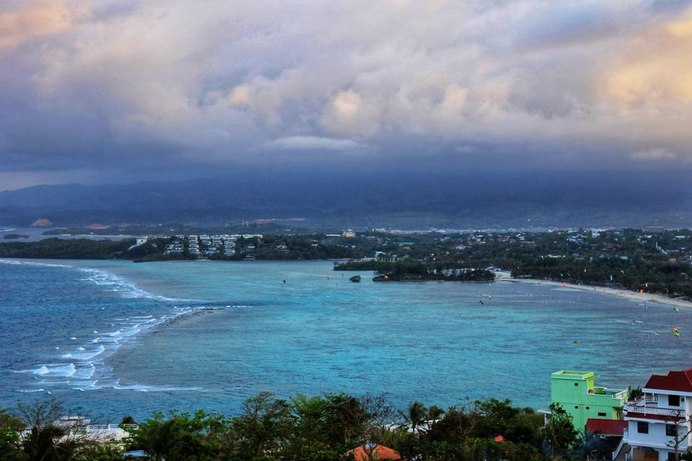 Sea Beach Cloud - Sky High Angle View Vacations Travel Destinations No People City Nature Blue Multi Colored Horizon Over Water Boracay Philippines Done That. Been There.
