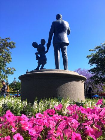 Hold my hand to tomorrow land Disney Disneyland California Mickey Mouse Flowers,Plants & Garden Blue Sky Happiestplaceonearth Waltdisney Mainstreet