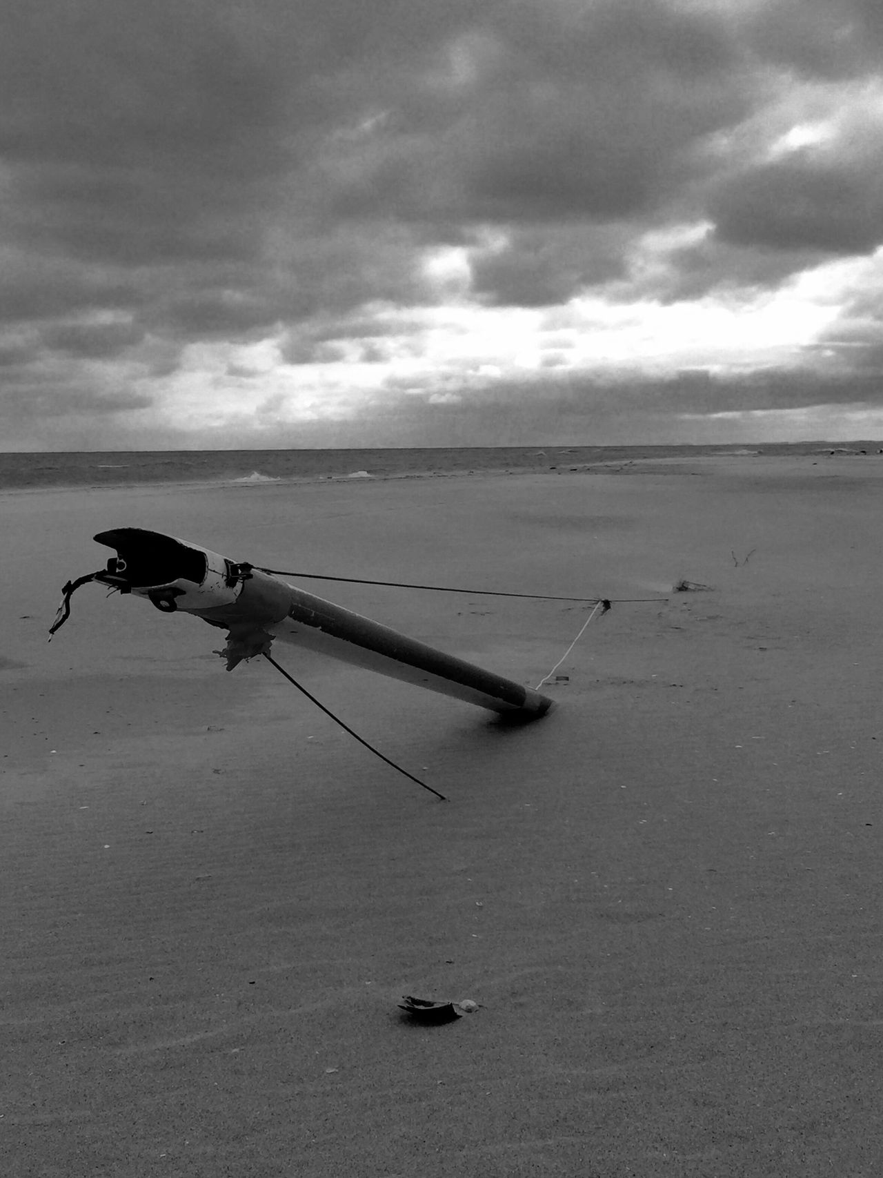 Buried Ship (Assateague) Mast Shipwrecked Sea Horizon Over Water Sky Cloud - Sky Water Tranquil Scene Tranquility Scenics Cloud Beauty In Nature Nature Shore Flying Non-urban Scene No People Cloudy Vacations Remote Autumn Beach Marooned Eastern Shore Of Virginia Monochrome Photography Live For The Story