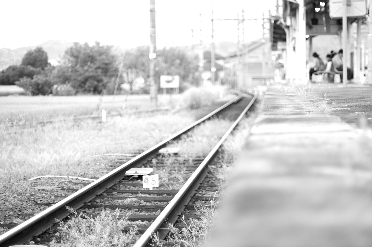 Train Line Japan Photography Fd50mm Monochrome Black And White EyeEm Bnw Train Station