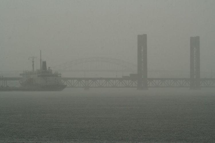 Bridge In Fog Fog