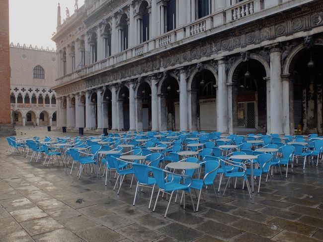 Early morning serenity in Piazza San Marco Arrangement Building Exterior Colours And Patterns Empty Famous Place In A Row Outdoors Town Square