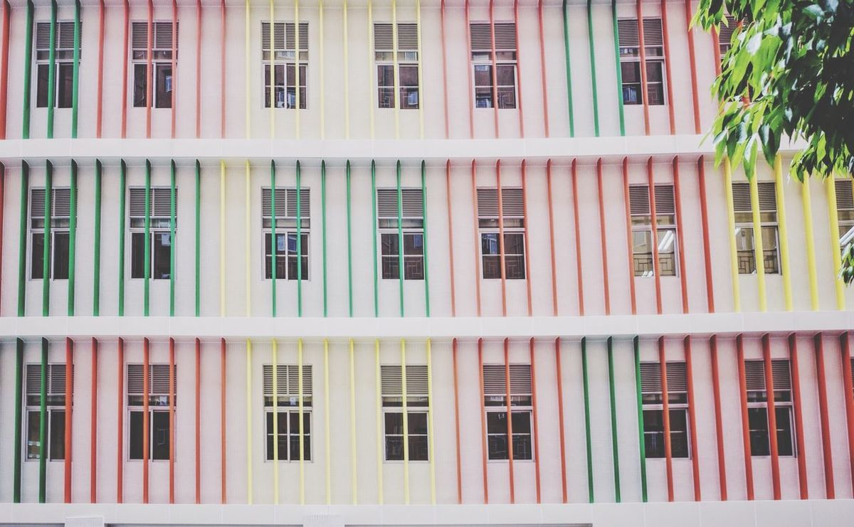 Colorful Lines Explore Macau Equilibrium Macau Urban Landscape Building Squares Minimalism