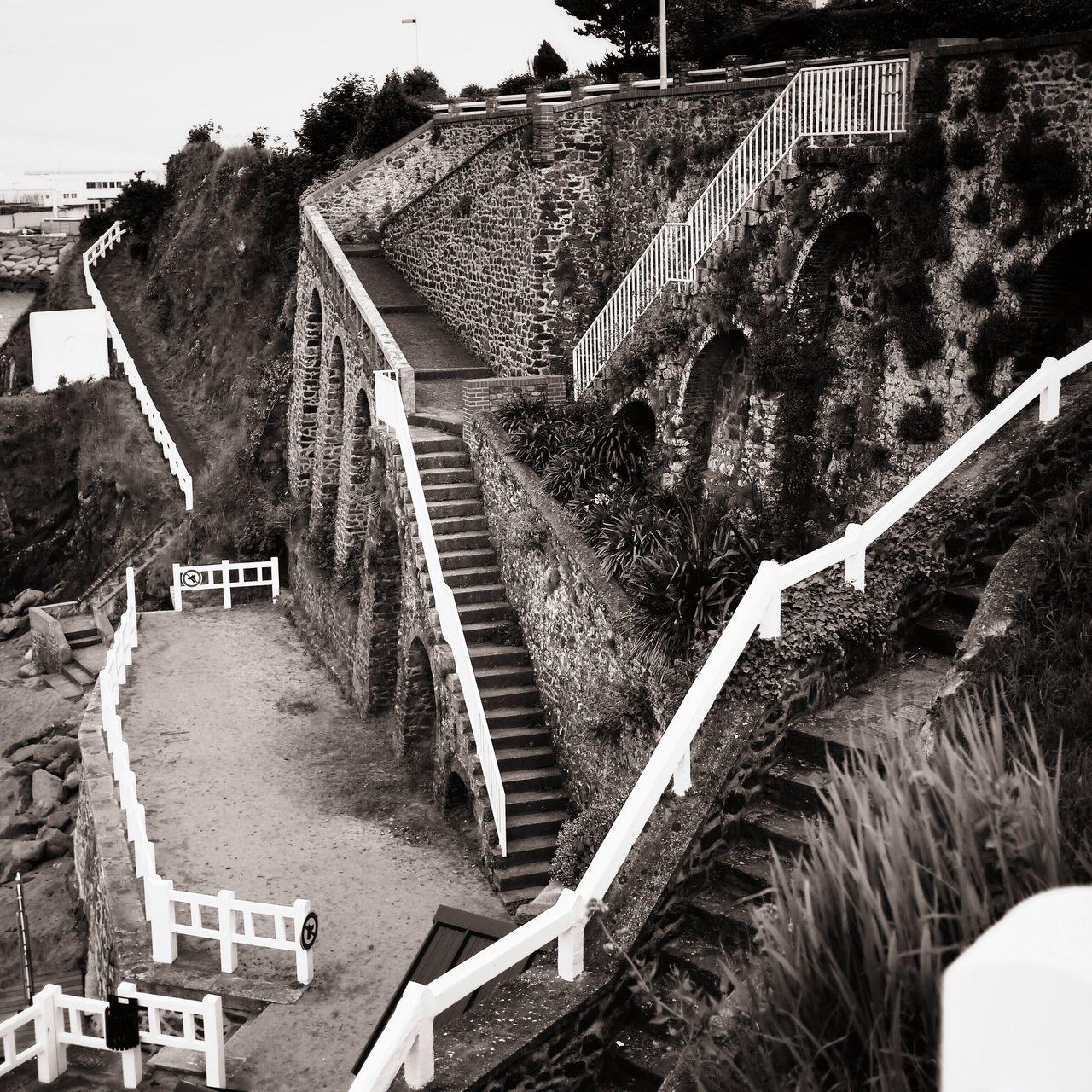 Staircases On Mountain