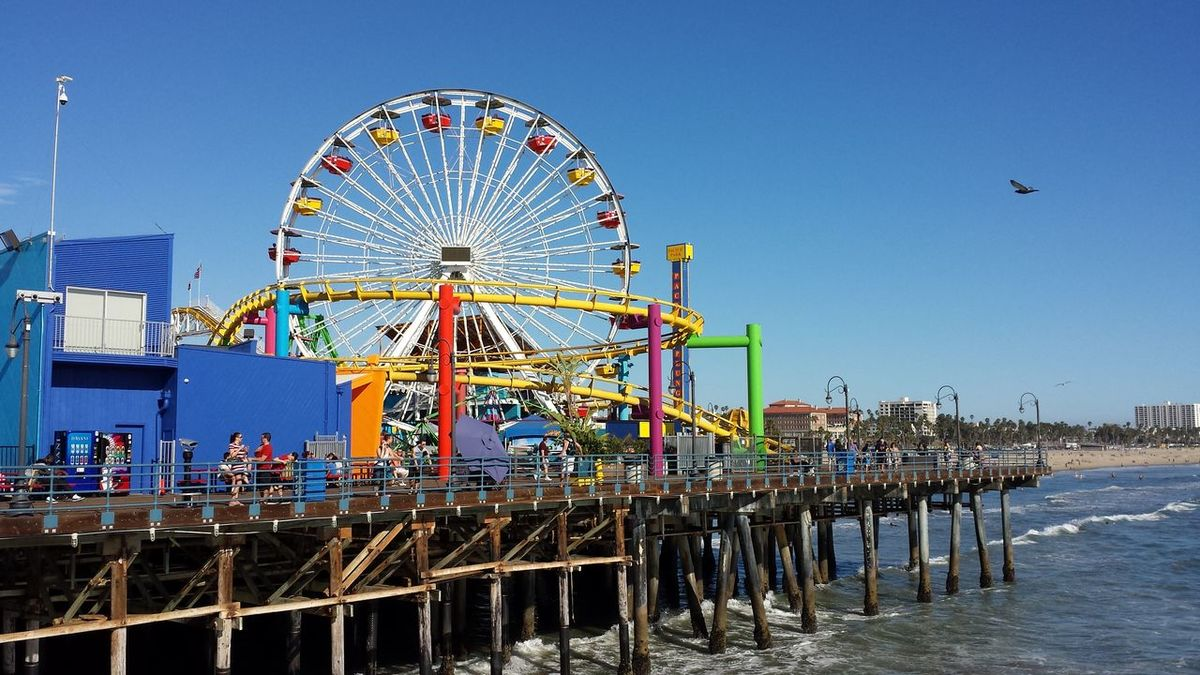 Beach Beach Photography Beauty In Nature California Landscape Late Daylight People And Places Santa Monica Santa Monica Beach Santa Monica Pier Sunny Sunsets EyeEmNewHere