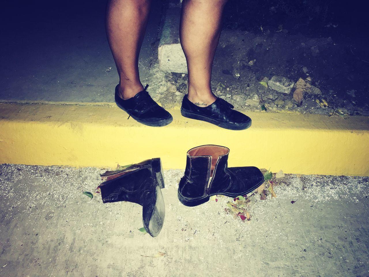Human Leg Shoe One Person Real People Human Body Part Pair Yellow Human Foot Disfrutando De La Vida Boots Vans Street IPhone I put my best pair of shoes... 🎤🎼💃🏻❤️🖤