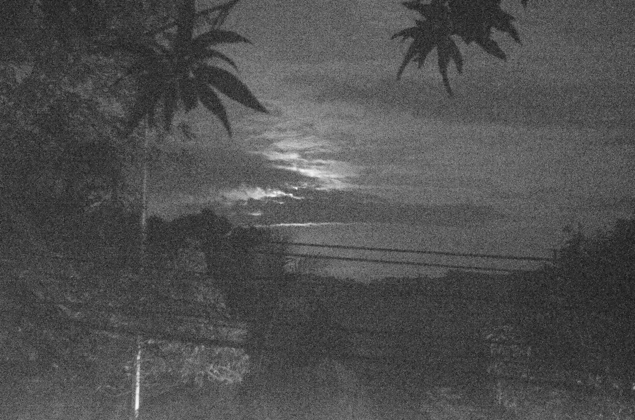 The supermoon is hiding. Supermoon Full Moon Night Vision Black And White