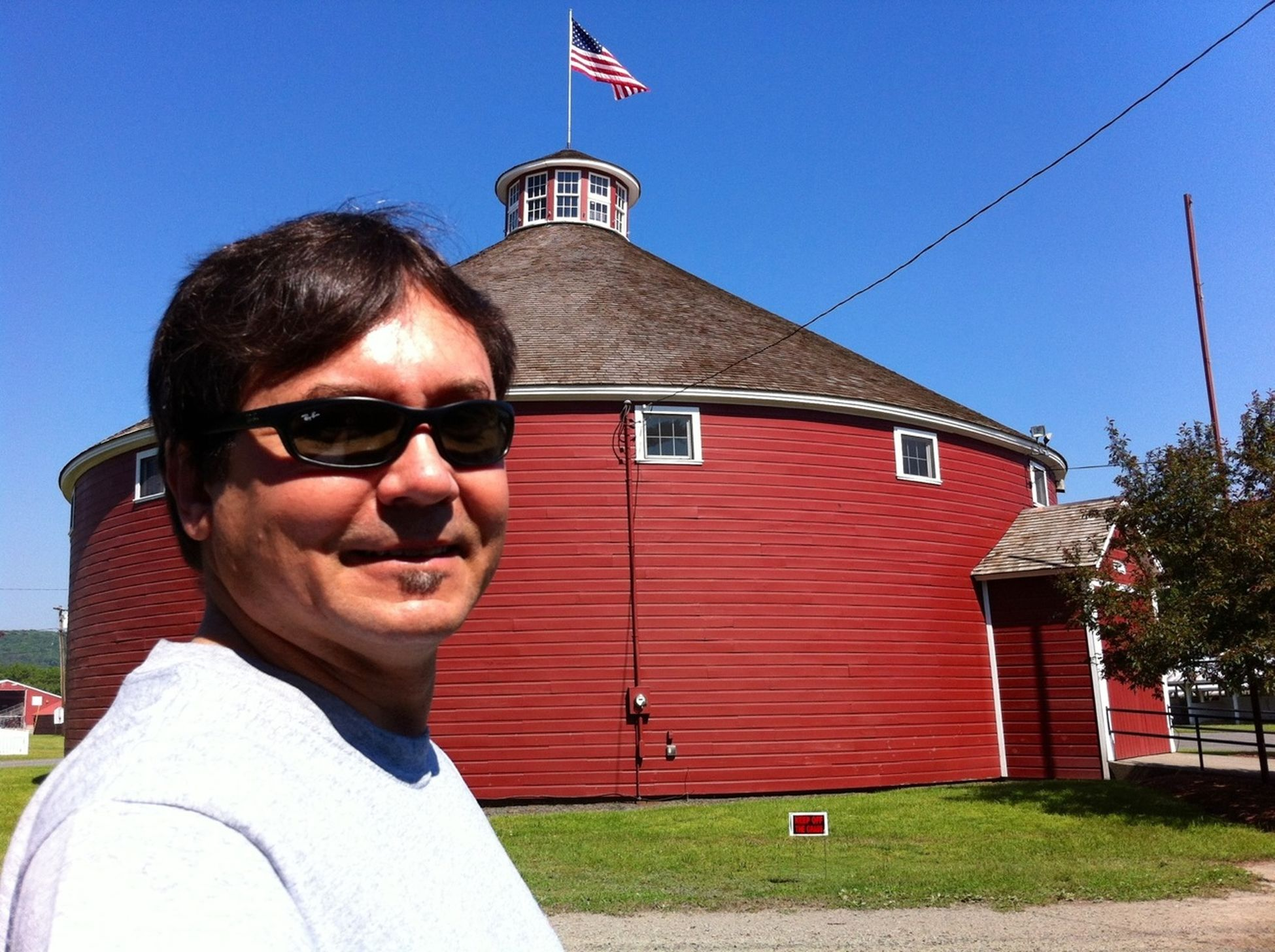 1899 Round Barn designed and built by Frank Orrin Wells... Greenfield, MA.