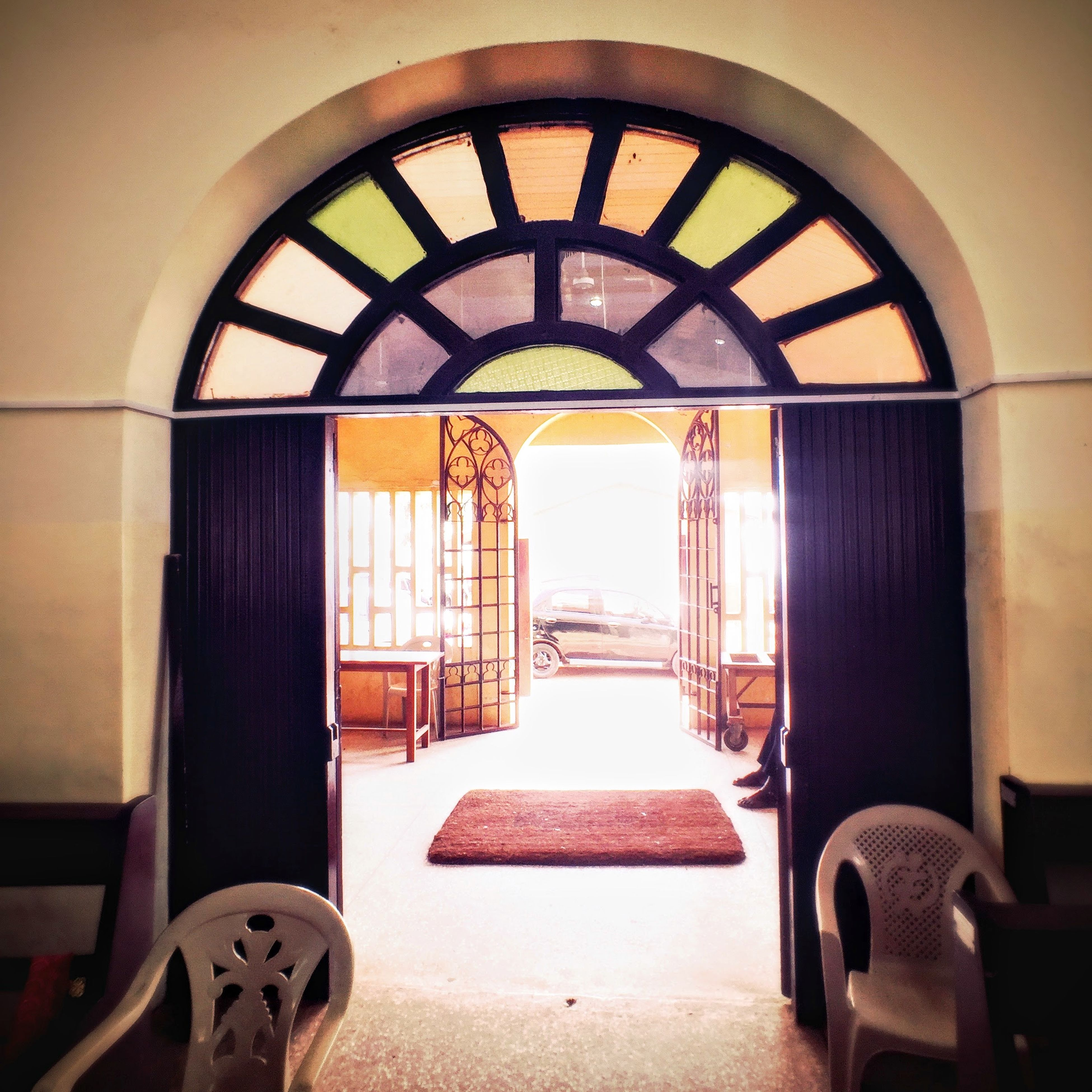 indoors, arch, architecture, window, built structure, interior, empty, door, absence, ceiling, chair, entrance, no people, day, house, building, sunlight, wall, flooring, wall - building feature