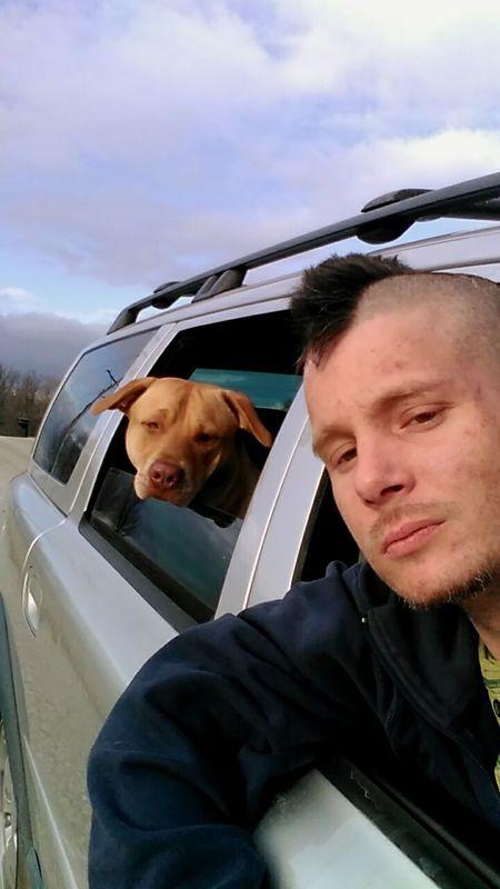 Hanging Out Taking Photos Enjoying Life Mansbestfriend K9life Companion Dog Rednose Pitbull Enjoying Life Selfie ✌