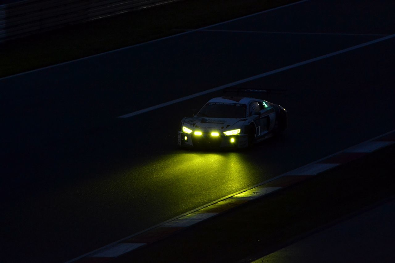 Angry Audi Car Lights In The Dark Motosport Nurburgring R8 Racecar Speed