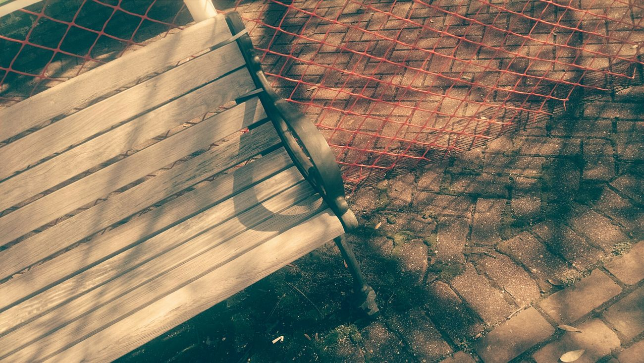 The best memories are always made in simple moments. Bench Filter Lines Sidewalk City Fence Brick Brick Sidewalk Wooden Bench Street Bench Midday Mid-day Mid Day