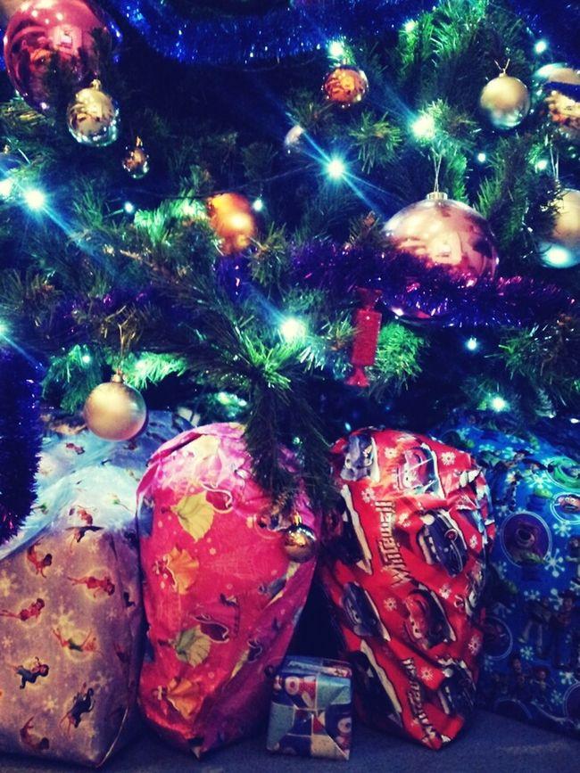 Lets just say half of Santas sack is under this tree