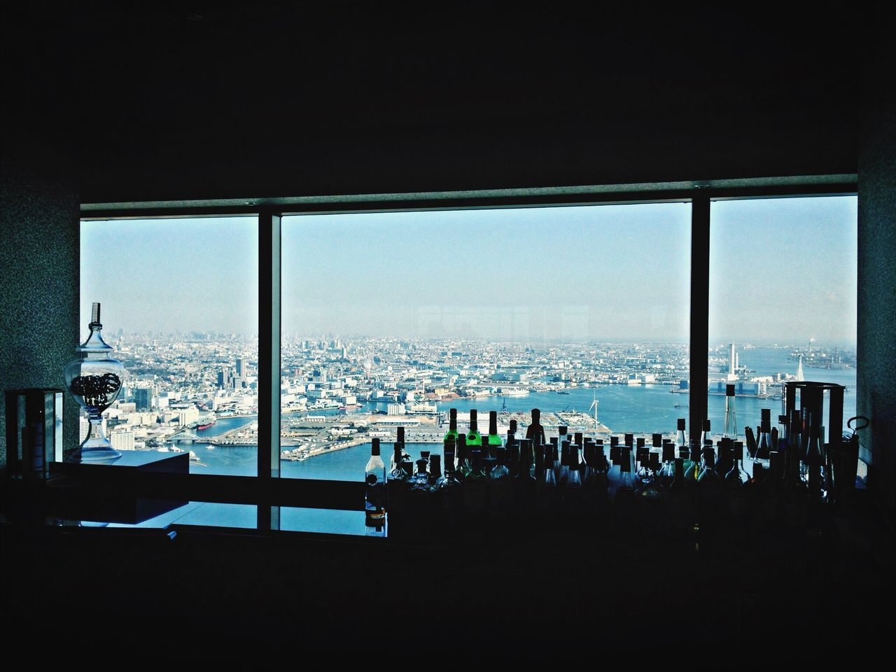 Skylines Stifanibrothers Skyline Cityscapes Impossible Moments Asian Culture Seeing The Sights A Bird's Eye View Sommergefühle Built_Structure No People Sky Bottles Collection Bar Yokohama, Japan