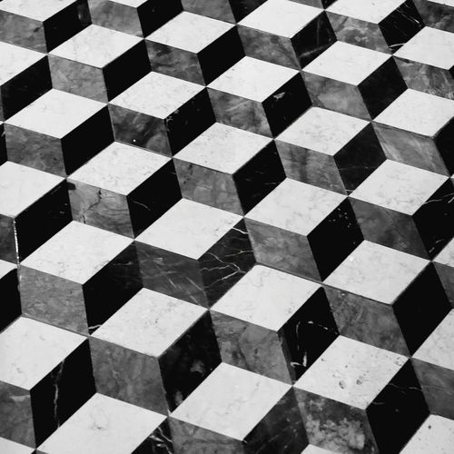 Visual Puzzle Puzzle  How Many Patterns Do You See How Many Dimensions Black & White Fun Interesting Perspective Check This Out Abstract Simplicity Design Pattern, Texture, Shape And Form Pattern