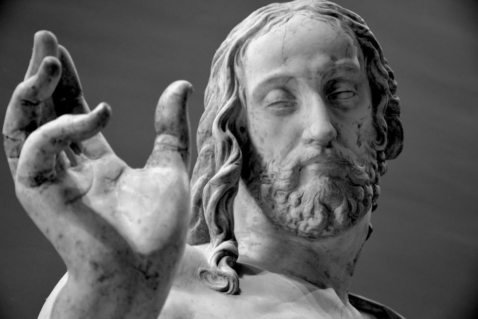 Christianity Close-up Day Human Representation Jesus One Person Outdoors People Religion Saviour Sculpture Sky Statue