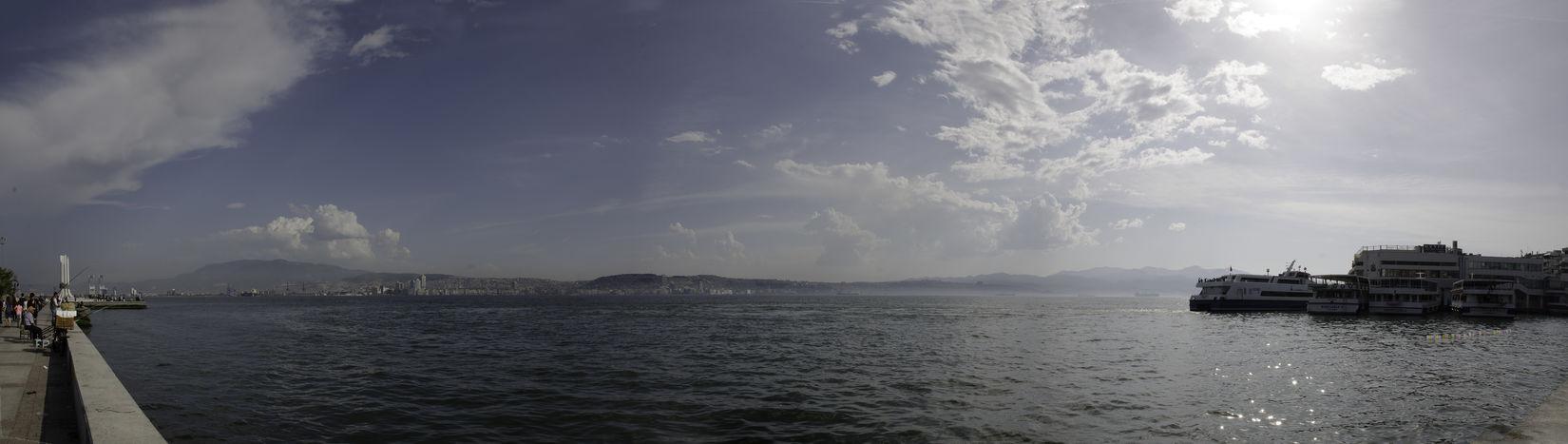 Panorama Sea Sky And Clouds Sky