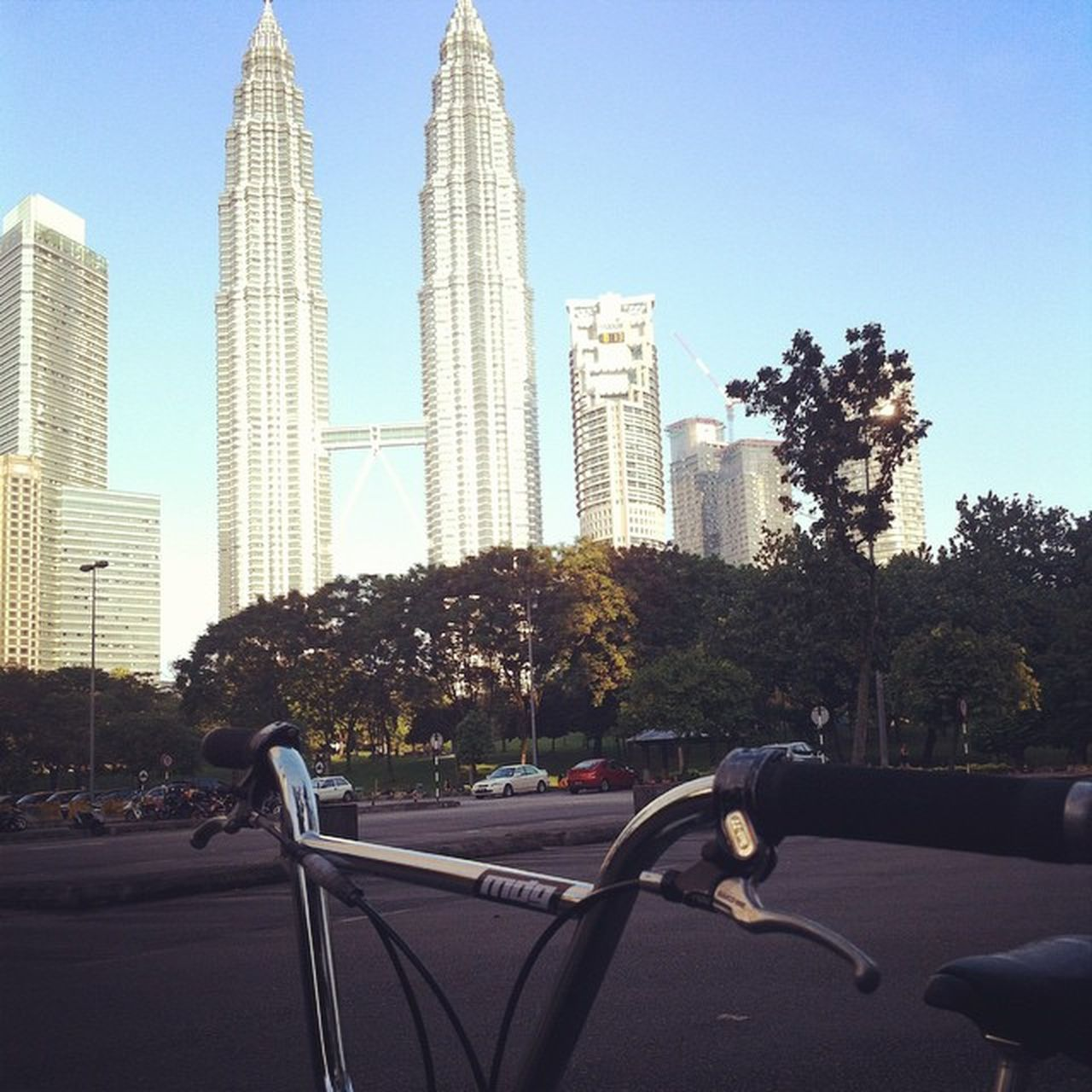Myride Soloride Klcc Kualalumpur with morning nice view.