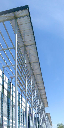 Architecture Steel Steelwork Blue Sky Building Office Building Outdoors Outside Modern Canopy Eurocentral