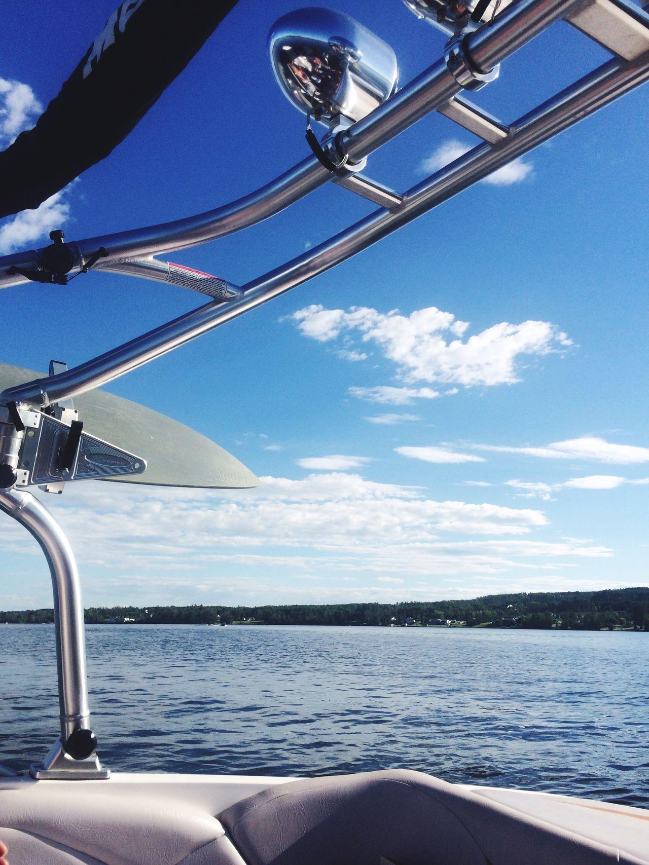 Just love surfing Canada Lake Lake View Blue Sky British Columbia Wakesurfing Wakeboarding Boat