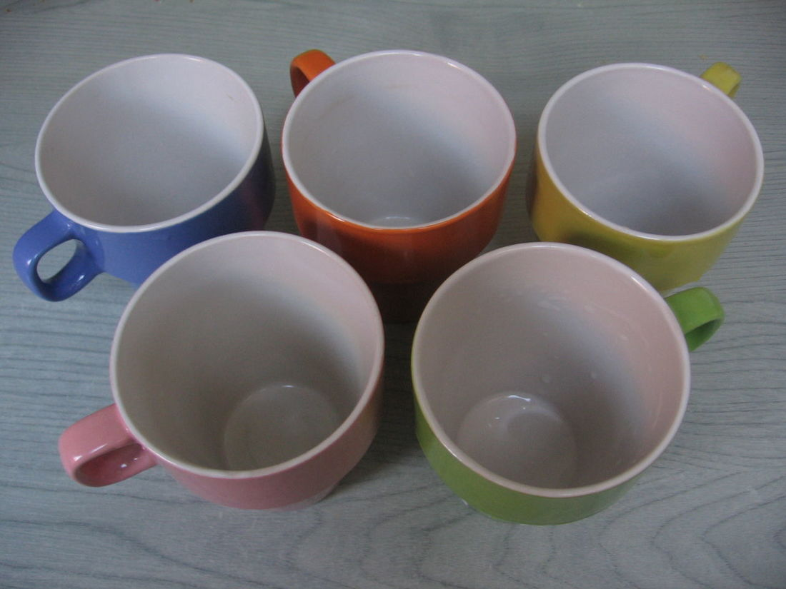 Colorful Ceramic Mugs Ceramic Mug Colorful Colors Cup Cups Glass Kitchen Tools Mug