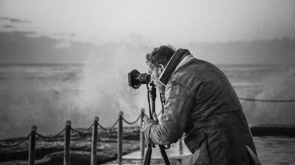 Creative Shots CreativePhotographer Man Taking Photo Man Taking Picture Photo Of Surf Photograher Photographer In The Shot Photography Wild Sea