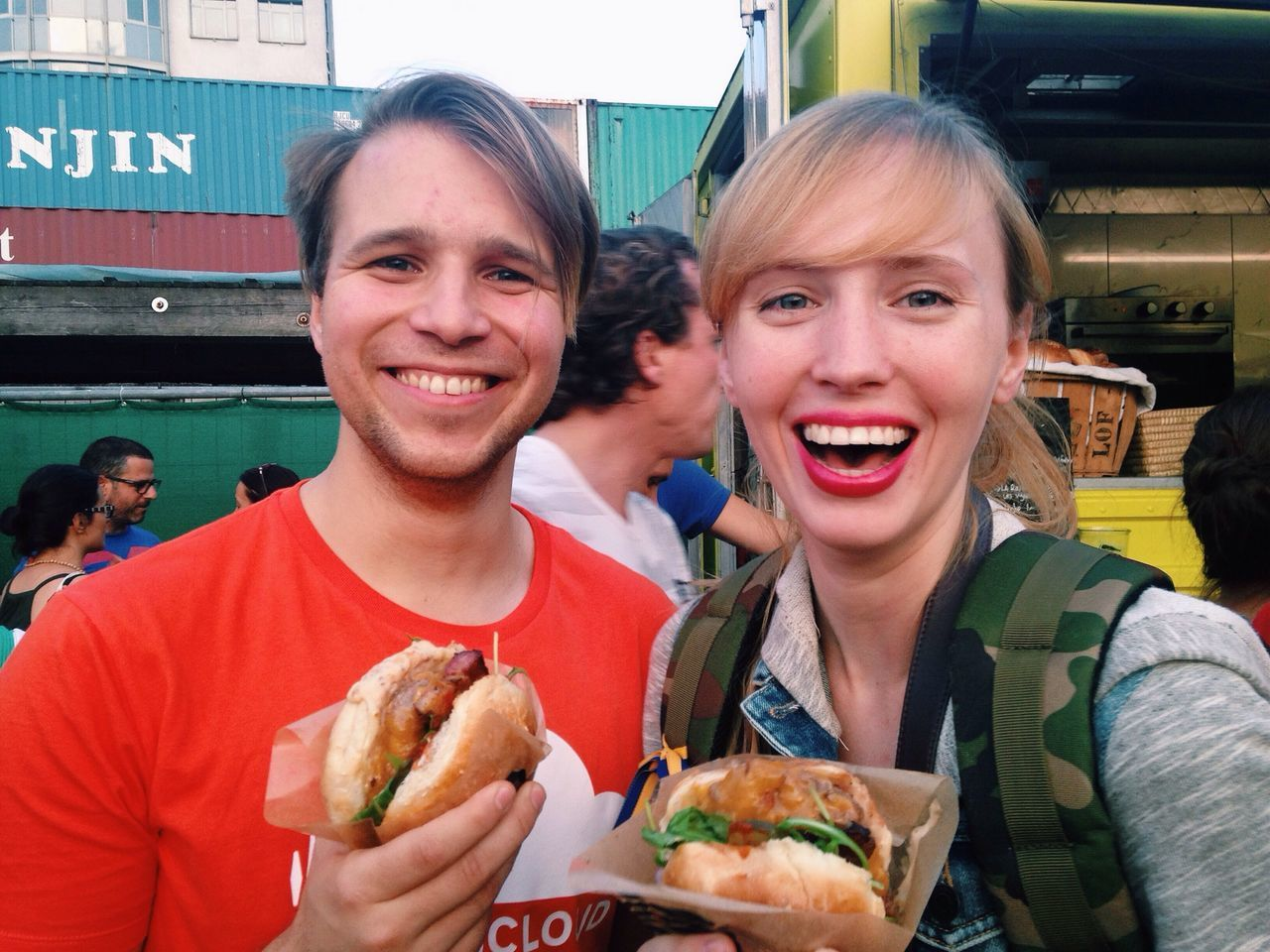 Burgers and Friends and Smiles . Keep Smiling Even When Everyone Wants To Bring You Down!