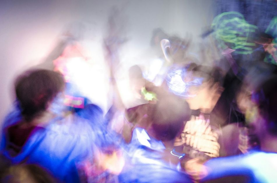 Dunkelbunt Lights Music Neon Fun People Party NightShadows & Lights Showing Imperfection Blacklight Blurred Motion Blurred Long Exposure