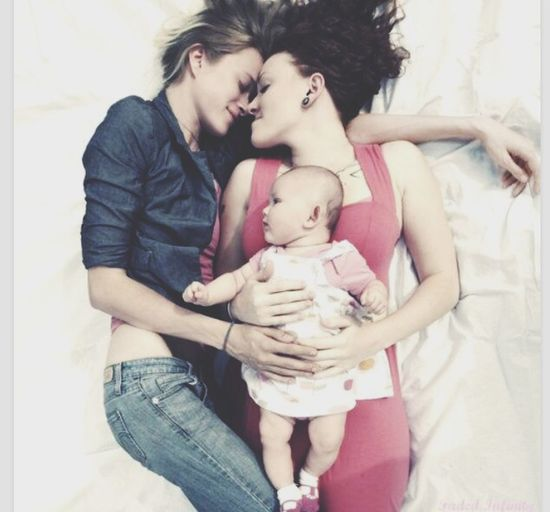 Today's Hot Look Lesbian Family Love cute <3