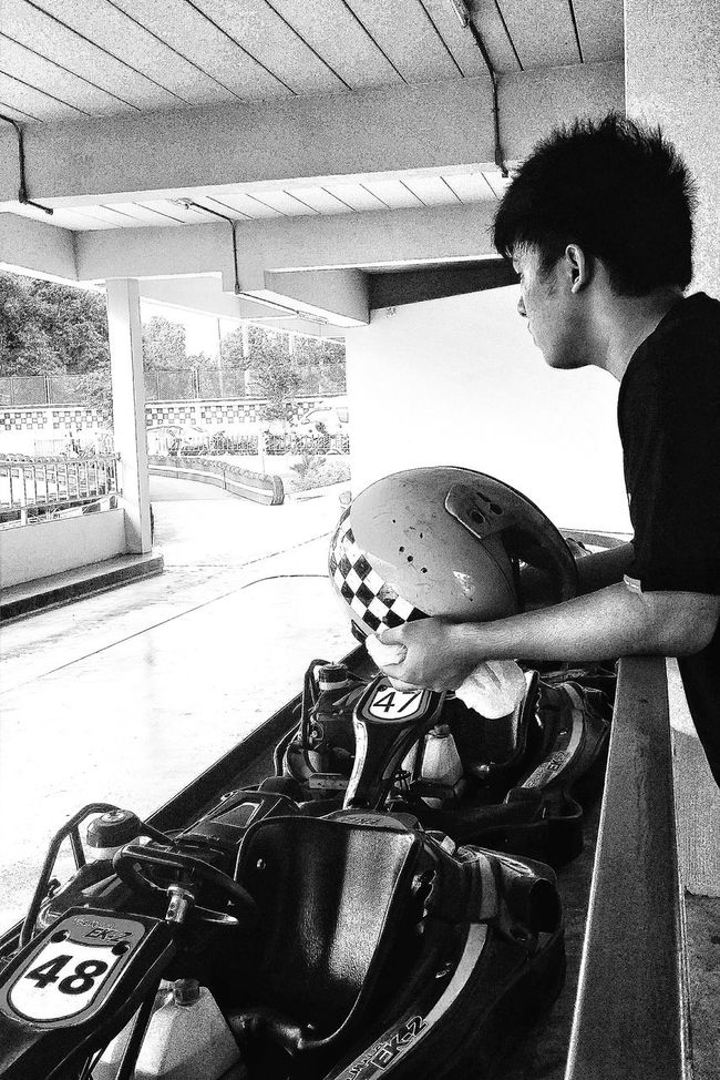 Waiting For His Turn Go-karting Koh Samui Thailand Travelphotography Streetphotography Bnw Bnw_captures Bnw_life Bnw_travel Bnw_world Bnwcollection Bnwphotography Bnw_kohsamui Eyeemkohsamui Eyeem Streetphotography Eyeemphotography Eyeemthailand