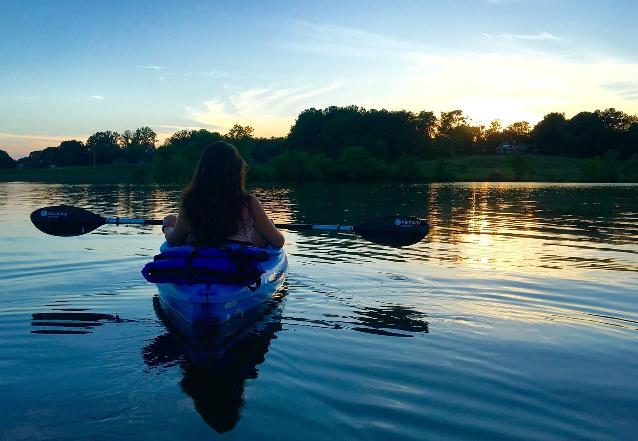Almost sunset at Cane Creek Kayak Kayaking Panoramic Wife Summer Nature Tennessee