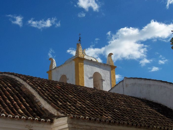 Architecture Blue Building Exterior Built Structure Cathedral Church Cloud - Sky Cross Day Dome Famous Place History Low Angle View Place Of Worship Portugal Religion Sky Spirituality Travel Destinations