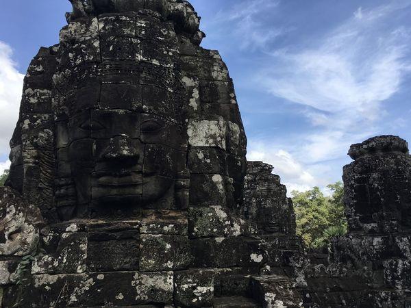 Sky Angkor Wat Kambodia Stone Statue