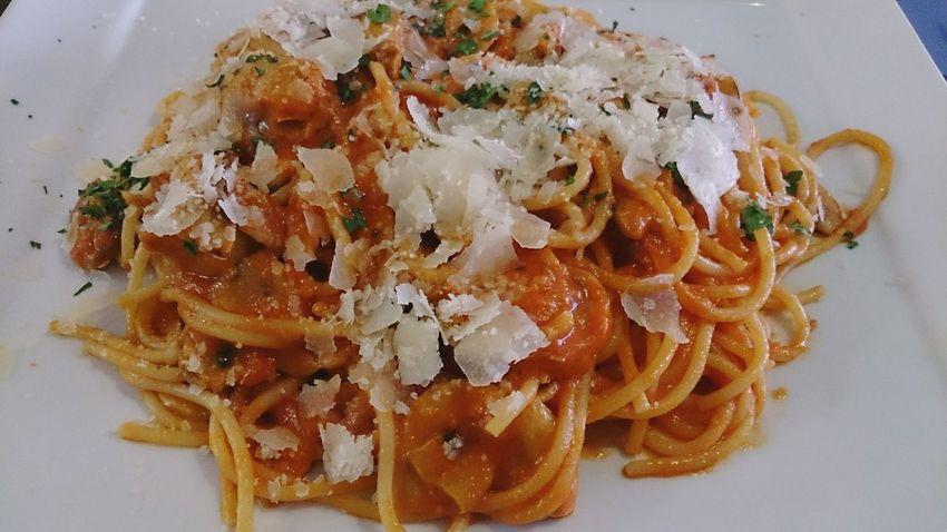 Esta Noche Whatsonmyplate un bueno Spaghetti Parmigiana the Spicy version