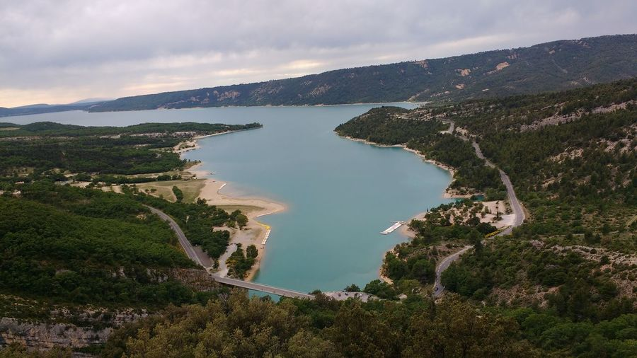 Beautiful Blue Water Cliff Jumping Clouds France France Sud Gorge Du Verdon Man Made Water Mountains Outdoors Paddle Boats Sky South Of France Travel Travel Destinations Travel Photography Verdon