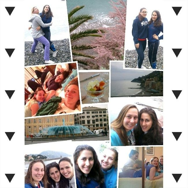 Italy Teamcamp Cute Girls sea free feel moment with waterpolo ladies