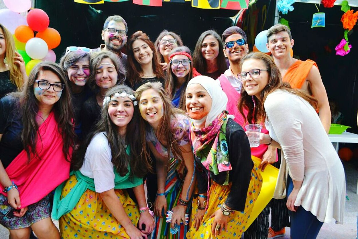 Global Village GCLAUMUN MUN Love Friends ❤ Colours Holi Powder Happy