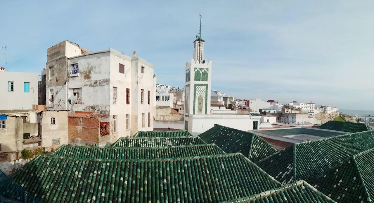 Mezquita Architecture Arabic Mezquita Tanger  City No People Green