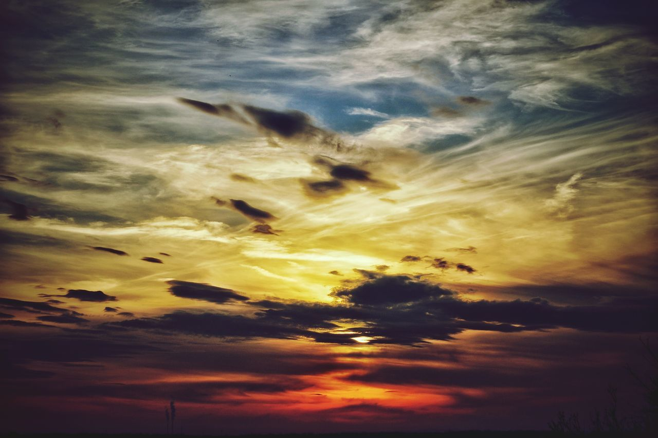 Sunset Sky Beauty In Nature Cloud - Sky Nature Dramatic Sky Backgrounds No People Heaven Outdoors Day Weingarten Sony Alpha Px58 Sun