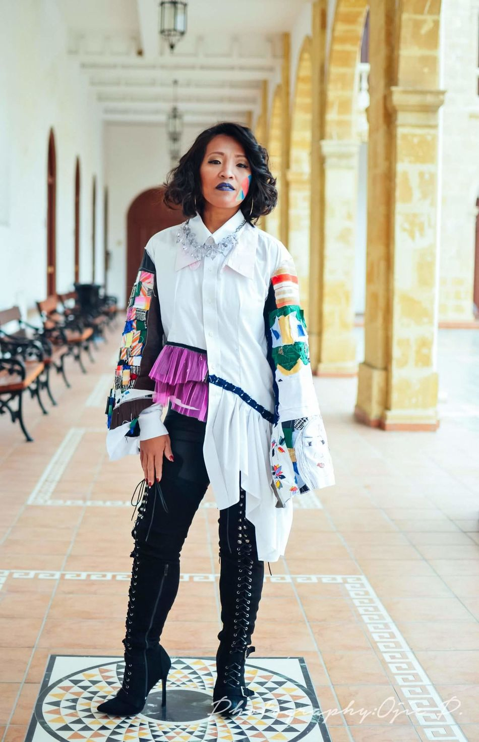 My Model in Upcycling Design Clothes Filipina Portrait Of A Woman Cyprus