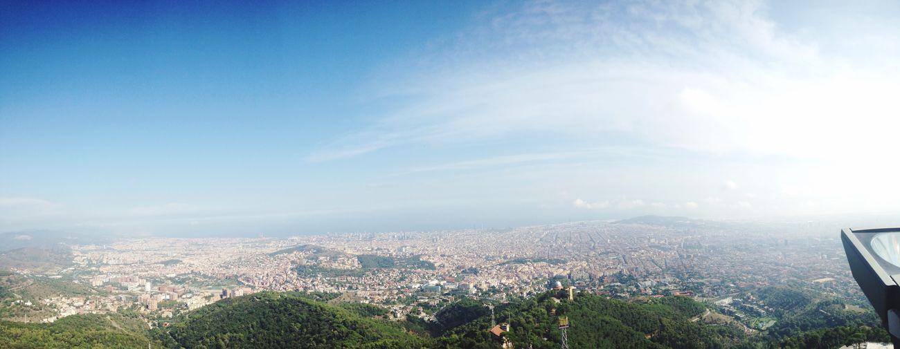 Holiday POV Barcelona view from Tibidabo