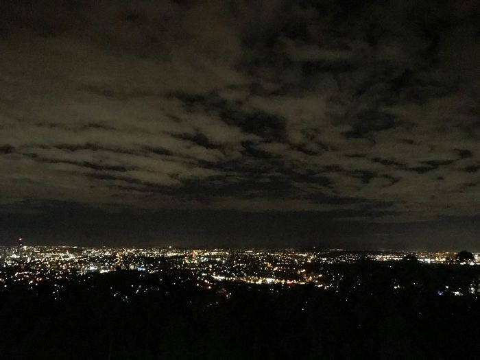 Late night view on the mt