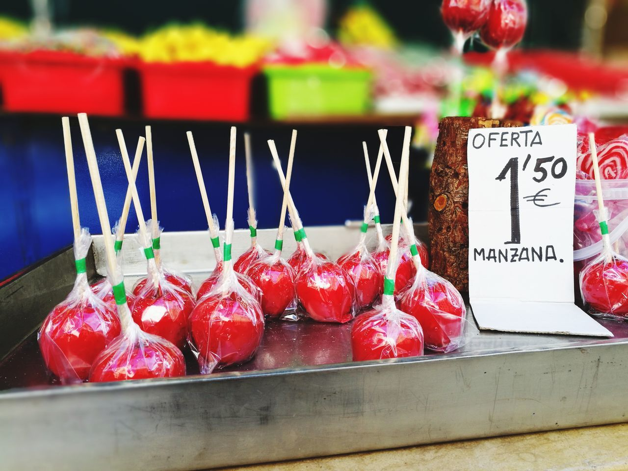 Apple Sugar Red Focus On Foreground Sweet Food Candle Freshness No People Denia Spain ✈️🇪🇸 Fruit Indoors  Market Day