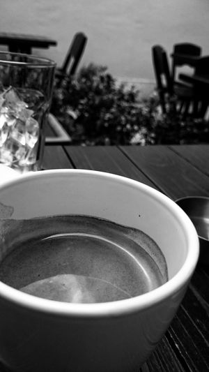 Black And White Coffee Cafe