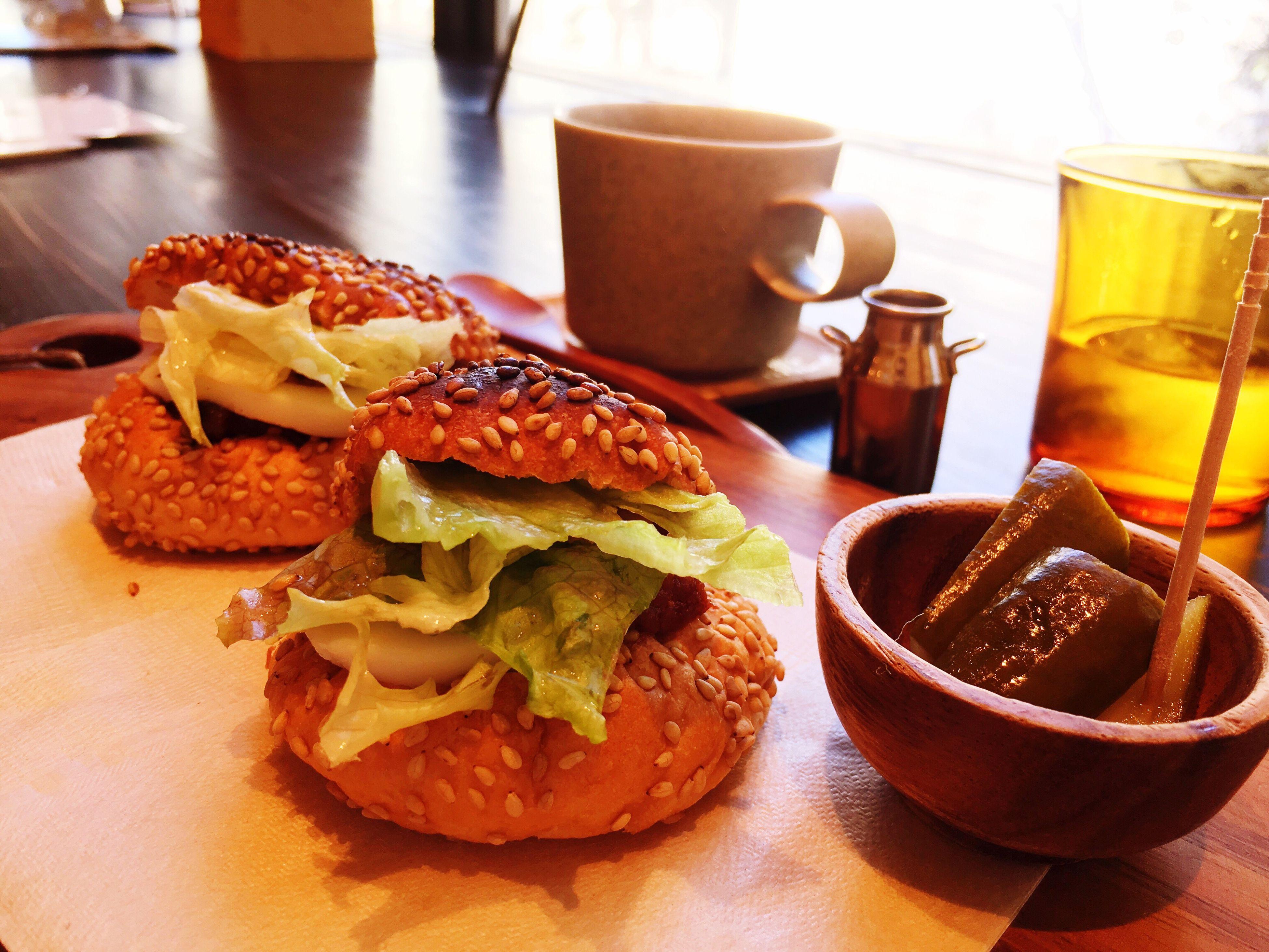 こぐまーがー こぐまカフェ Table Food And Drink Foodporn Yummy♡ Coffee Cafe Lunch Lunch Time Freshness Tokyo 遅いランチにちょうどいい。