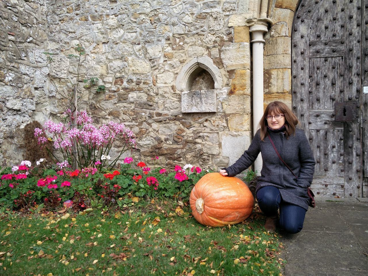 Leeds St Nicholas Church Autumn🍁🍁🍁 One Woman Only Building Exterior Happiness Outdoors Warm Clothing autumn Pumpkin Big Pumpkins Women Autumn Walk